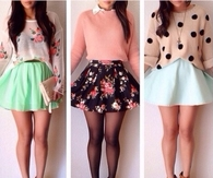Colorful short skirts