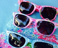 Bright colorful sunglasses