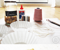 DIY Gold Glitter Bowtie Decorations