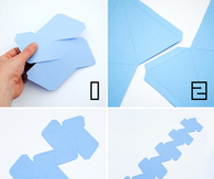 Origami Stellated dodecahedrons