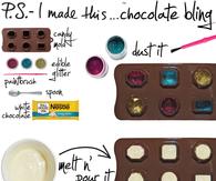 DIY Edible Chocolate Bling