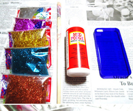 DIY Glitter Iphone Case