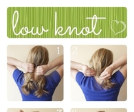 DIY Low Knot Hair