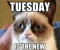 Tuesday is the new Monday
