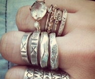 Boho and hipster rings