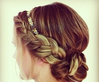 Boho updo braid