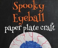 Spooky Eyeball Paper Plate Craft