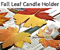 DIY Fall Leaf Candles