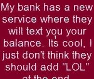 bank service joke
