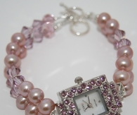 Pretty Pink Pearl Watch