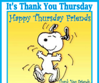 It's Thank you Thursday!