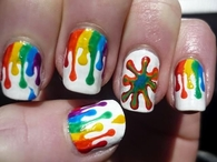 Paint Splattered Nails