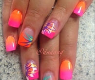 Summer Splash Nails