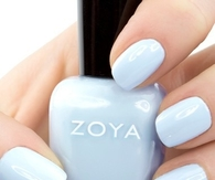 Powder blue zoya nails