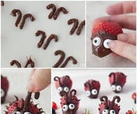 DIY Chocolate Strawberry Ladybug Snacks