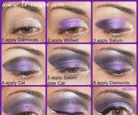 DIY Glitter Eyes