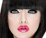 Dark eyeliner