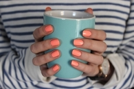 Bright orange nails