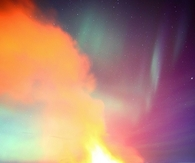 Volcanic Northern lights