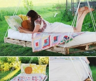 DIY Pallet Bed Swing