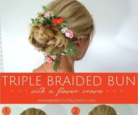 DIY Triple Braided Bun