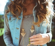 Denim vest and stripes