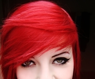Red Beauty with Piercings