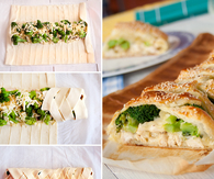 DIY Chicken Broccoli Braid