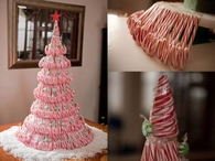 DIY Candy Cane Tree Idea