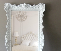 Huge white mirror