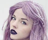 Lavender Hair & Purple Lips