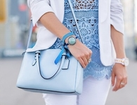 Powder blue fashion
