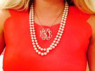 Monogram and pearls