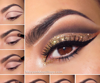 DIY Glitter Eye Makeup