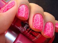 Pink Animal Print Nails