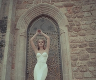 White Strapless Mermaid Gown
