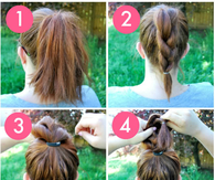DIY THE KNOT-SO BRAIDED BUN