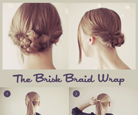 DIY Brisk Braid Wrap