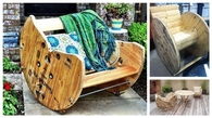 DIY Build a Rocking Chair with a Wooden Cable Reel