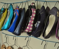 Wire Hangers for Shoe Storage