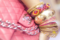Bracelets and Coach Handbag