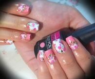 Floral Print Nail Art