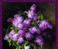 Lovely Painting of Purple Lilacs