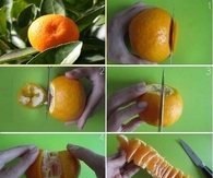 How to Peel Mandarin