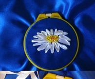 How to Sew  Ribbon Daisies