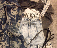 Acid wash overalls