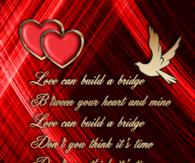 Love can build a bridge...