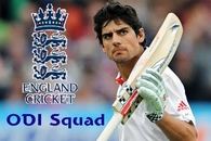England Caption Cook with his squad for India ODI Series