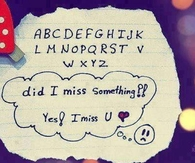 Yes i miss you