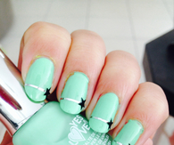 Turquoise star nails